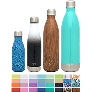 Simple Modern 9oz Wave Kids Bottle - Vacuum Insulated Double Wall 18/8 Stainless Steel Hydro Water S'well Flask - Concept Collection - Aqua Rain