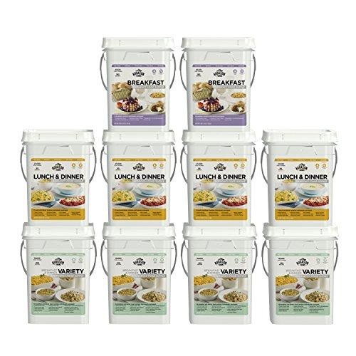 Augason Farms Deluxe 4-Month 1-Person 10 Pail Kit by Augason Farms