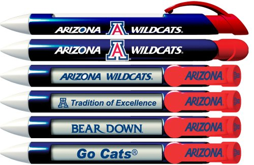 Greeting Pen University of Arizona Braggin Rights 6 Pen Set (20531)
