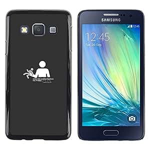 Caucho caso de Shell duro de la cubierta de accesorios de protección BY RAYDREAMMM - Samsung Galaxy A3 - Necesitas libertad no controlado