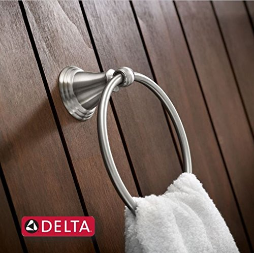 Delta Windemere Faucet Brushed Nickel: Delta Faucet 79646-BN Windemere Towel Ring, SpotShield