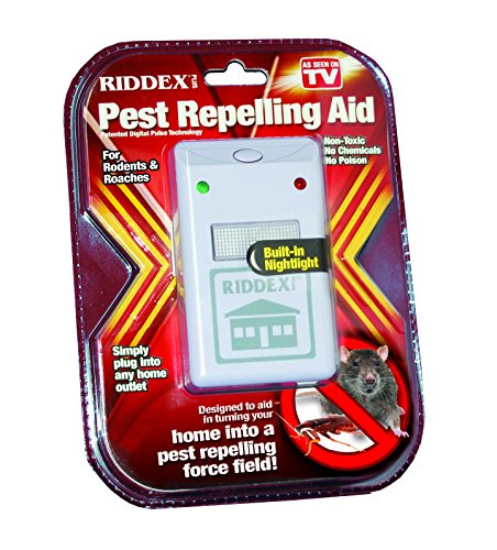 Riddex Plus Pest Repeller for Rodents and Insects, Plug-In Indoor Repellent (Pest Ridx Control)