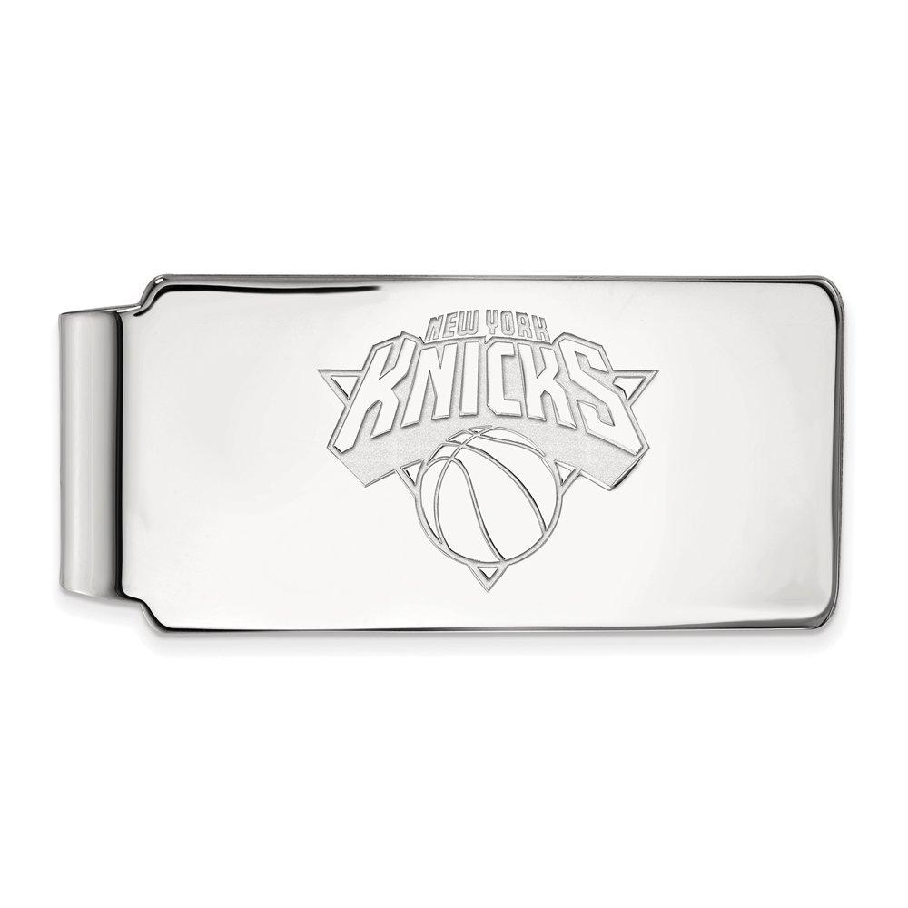 NBA New York Knicks Money Clip in 14K White Gold