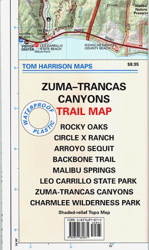 Trail Map of Zuma-Trancas (Santa Monica Mts, CA) (Tom Harrison - Monica Outlet Santa