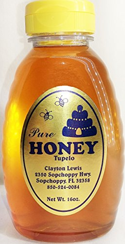Top Choice Of Discriminating Bees! 2018 HARVEST RAW TUPELO HONEY (1 lb) Natural, Organic, Unpasteurized with Natural Pollens. This honey is the Bee's (Florida Tupelo Honey)