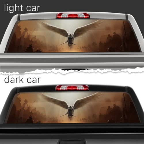 DOLPHIN Rear Window Graphic truck view thru vinyl decal back