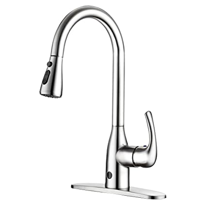 Superieur Touchless Kitchen Faucet Two Sensor One Handle High Arc Kitchen Faucets  With Dual Function
