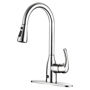 Touchless Kitchen Faucet Two Sensor One Handle High Arc Kitchen