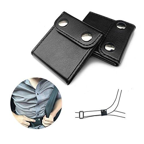Seatbelt Adjuster, ILIVABLE Comfort Auto Shoulder Neck Protector Locking Clip Cover, Vehicle Car Seat Belt Safety Positioner (2 Pack, Black)