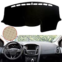 Texure Flanne Anti-UV & Reflection Dash Cover,Non-slip Dashboard Cover for 2011-2017 Ford FOCUS