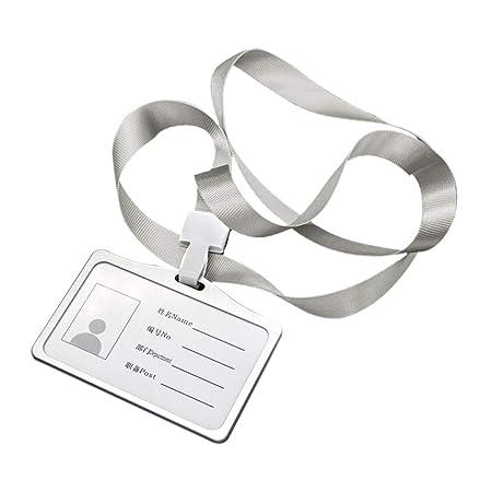 Hylotele ID Carte Porta Badge con Cordoncino Horizontal Fundas de ...