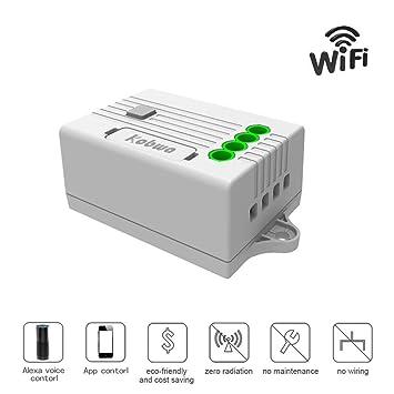 KOBWA Wireless Lichtschalter Empfänger, WLAN Funk-Empfänger Funk Schalter Modul, Funktioniert mit Kabellosem Dimmer Funkschalter Remote Control ...