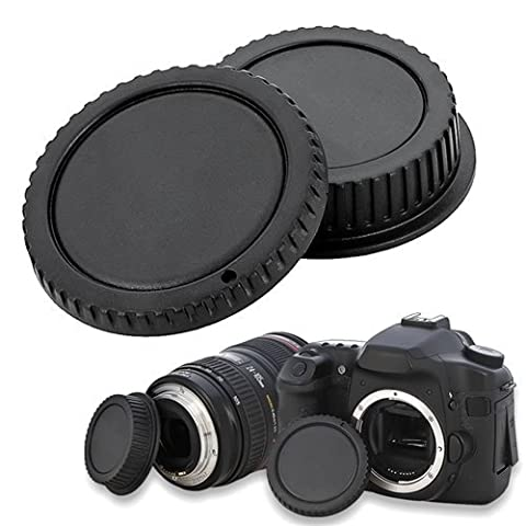 TOOGOO(R) Camera Body Cap and Rear Lens Cover Cap for