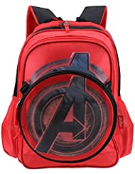 YOURNELO Boy's Cool 3D DC Comics Marvel's The Avengers School Backpack