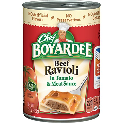 Chef Boyardee Beef Meatballs - Chef Boyardee Beef Ravioli, 15 Oz. (Pack of 24)