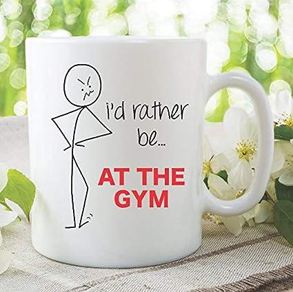 Amazon Funny Novelty Mug Id Rather Be At The Gym Husband