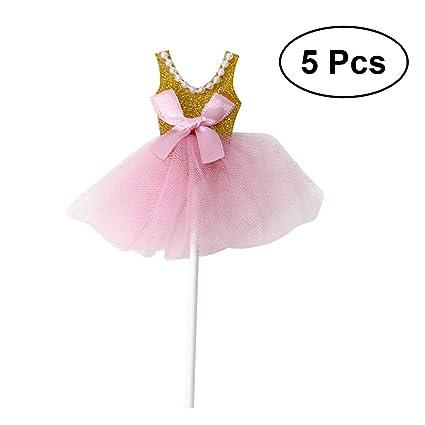 Toyvian Primeros De La Torta Del Vestido De La Princesa Del Brillo