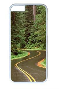 Forest road PC for Case For Iphone 5/5S Cover and Case For Iphone 5/5S Cover inch White