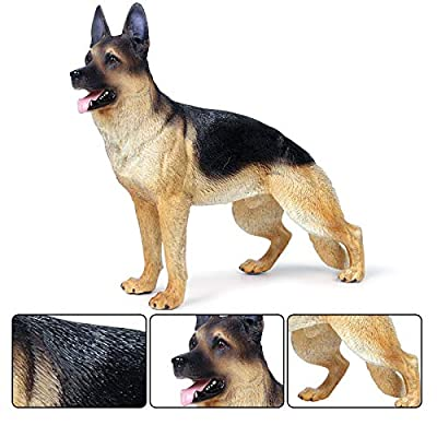 Hibon 7.9 x 6.3 x 2.4 Inch German Shepherd Dog Simulation Dog Model for Action Figure Accessories Military Soldiers Mini Animal Figures Adult Gift: Home & Kitchen