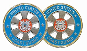 U.S. Coast Guard Wheel Cut-Out Challenge Coin by Eagle Crest by Eagle Crest