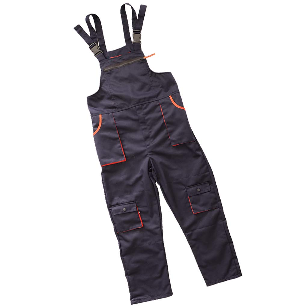 Flameer Workwear Work Protective Bib Overall Garage Dungarees With Multi Pockets - Blue