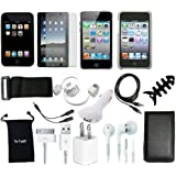 TsirTech 15-Item Accessory Bundle for New Apple iPod Touch iTouch 4G 4th Gen Generation 8GB 32GB 64GB
