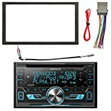 Kenwood 2-DIN Bluetooth CD AM/FM USB Car Audio Receiver, Enrock Double DIN Install Dash Kit, Enrock Stereo Wiring Harness, Enrock Antenna Adapter (Select 2000-2008 Vehicles)