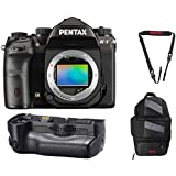 Pentax K-1 36.4MP Full-Frame CMOS Sensor DSLR Camera (w/D-BG6 Battery Grip) + Pentax 85231 Sling Bag 2 + Pentax 85232 Padded DSLR Strap