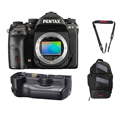 Pentax K-1 36.4MP Full-Frame CMOS Sensor DSLR Camera (w/D-BG6 Battery Grip) + Pentax 85231 Sling Bag 2 + Pentax 85232 Padded DSLR Strap
