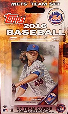 New York Mets 2016 Topps Factory Sealed Special Edition 17 Card Team Set with David Wright Matt Harvey and Yoenis Cespedes Plus