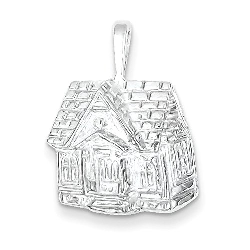 West Coast Jewelry Sterling Silver House Charm (Charm Silver Sterling House)