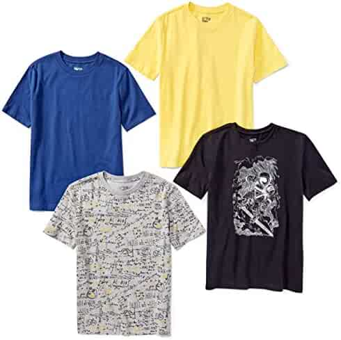 Amazon Brand - Spotted Zebra Boys' 4-Pack Short-Sleeve T-Shirts