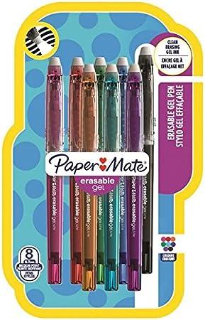 Paper Mate 1984511 estándar tinta borrable Gel – Colores Surtidos (Pack de 8): Amazon.es: Oficina y papelería