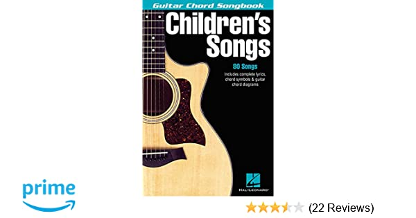 Amazon.com: Children\'s Songs (Guitar Chord Songbooks) (9780634050602 ...
