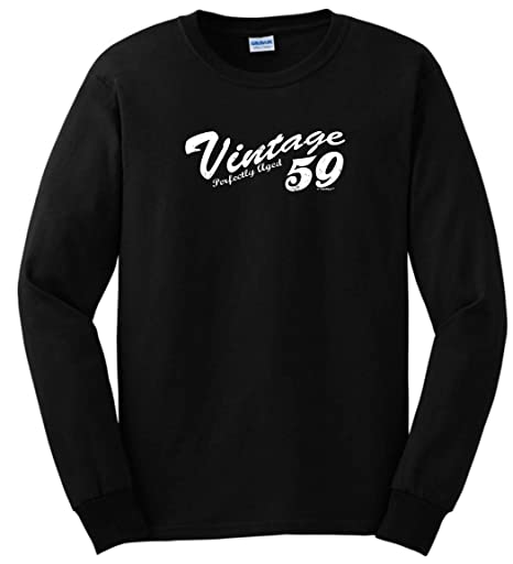 ca48160cd Amazon.com: 60th Birthday Gift Vintage 1956 Distressed Long Sleeve T-Shirt:  Clothing