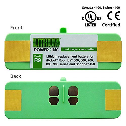 Lithium Roomba Replacement Battery For iRobot Roomba 500, 600, 700, 800, 900, 960, 980 Series and Scooba 450, 4400mAh -...