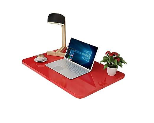 KTYXDE Mesa Plegable Mesa de Ordenador de Cocina de Pared roja ...