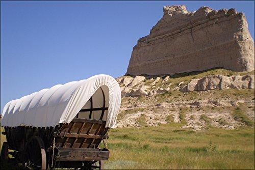 Poster Covered Wagon, Oregon Trail, Scotts Bluff Nat'L Mnmnt, Nebraska