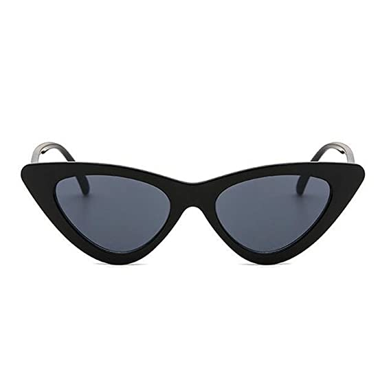Hzjundasi Donne alla moda Occhio di gatto Occhiali da sole Anti-UV Lente Cerniera a molla Triangolare Cornice Retrò Occhiali da esterno VShmmeHrrN
