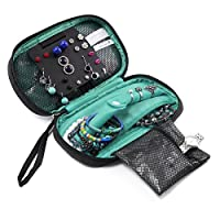 BAGSMART Travel Jewelry Organizer Storage Cases Jewelry Box for Earrings & Necklaces & Ring
