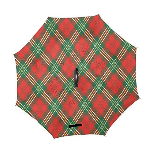 couche double à parapluie pour voiture de rouge utilisation et à rouge carreaux Revers inversé extérieure wq4SXIfIcg