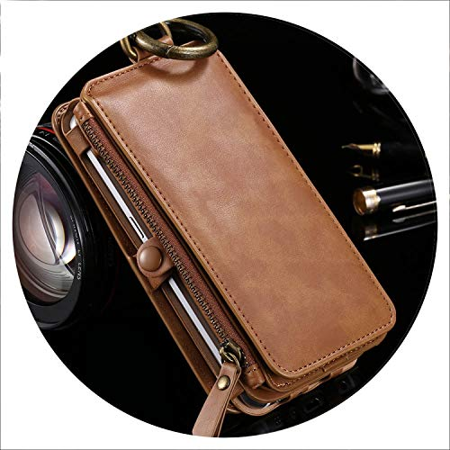 Retro Leather Phone Case for Samsung Galaxy S8 S8 Plus Card Wallet Phone Bag Cases for Samsung S6 S7 Edge Note 8 9 Cover,Retro Brown,for Galaxy Note 3 ()