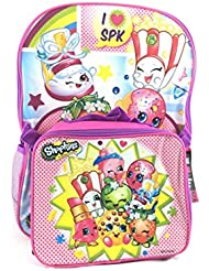 Shopkins Sweet School Backpack Set 16 Large Backpack with Matching Lunch Bag-Pink