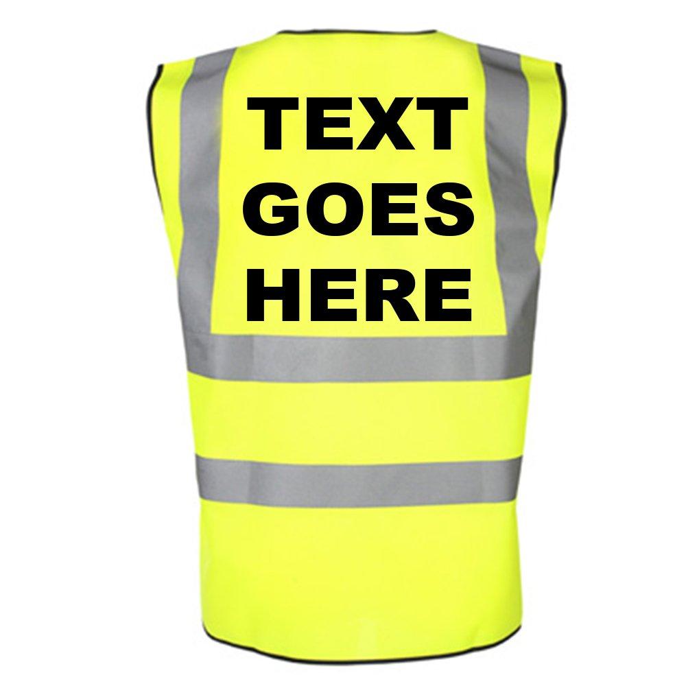 Personalised Any Name On Childrens Hi Visibility Waistcoat/Vest Hi Vis