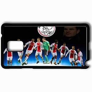 taoyix diy Personalized Samsung Note 4 Cell phone Case/Cover Skin Ajax Amsteram Ajax Football Black