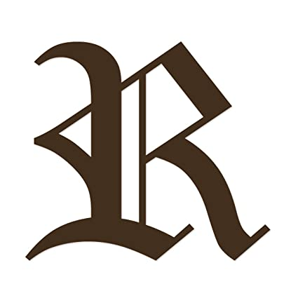 Amazon.com: Applicable Pun Old English Letter R   Vinyl Decal