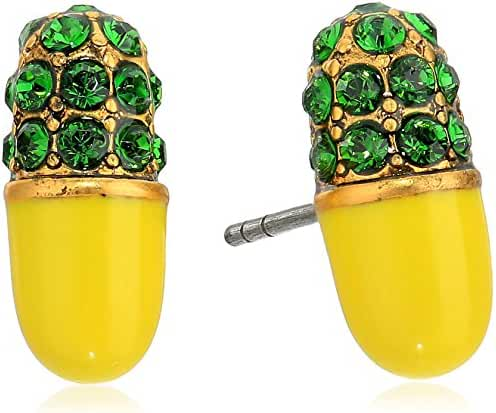 Marc Jacobs Spring 2017 Strass Pill Stud Earrings