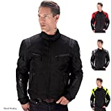 Viking Cycle Ironborn Motorcycle Textile Jacket (Black-3XL)