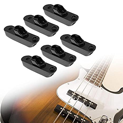 Broadroot guitarra puente Saddle Set Kit cadena con tornillos, 6 piezas para guitarra Bass Parts, negro: Amazon.es: Instrumentos musicales