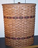 Amish Country Collectible Corner Hamper Country Basket with Lid. Measures 26'' X 18'' X 14''. A Primitive Basket That Is so Appealing That Even the Kids Are Sure to Keep the Clothes Picked up Off the Floor. An Exquisite Basket That Compliments Your Country H